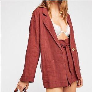 Free People Jojo Summer Linen Jacket